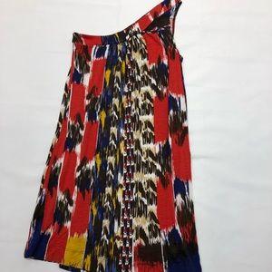 Aqua Bloomingdales one shoulder dress Small